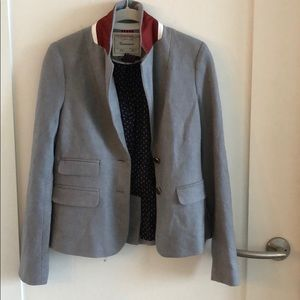 Anthropologie Grey Wool Blend Blazer